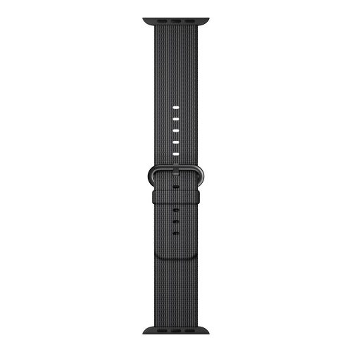 Apple watch woven nylon band black 1 500x500