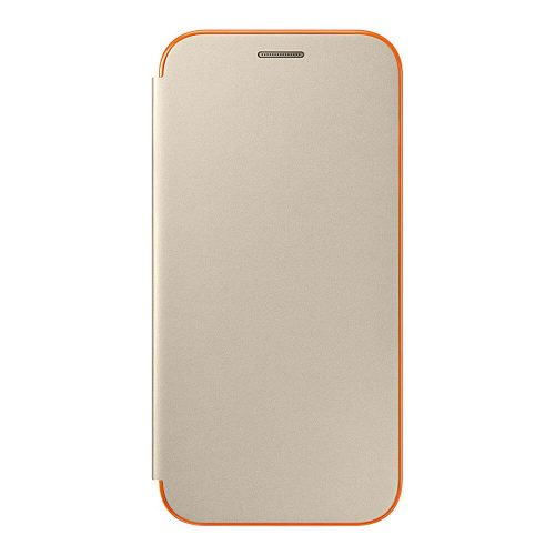Samsung Neon Flip Cover for Galaxy A 2017 gold 500x500
