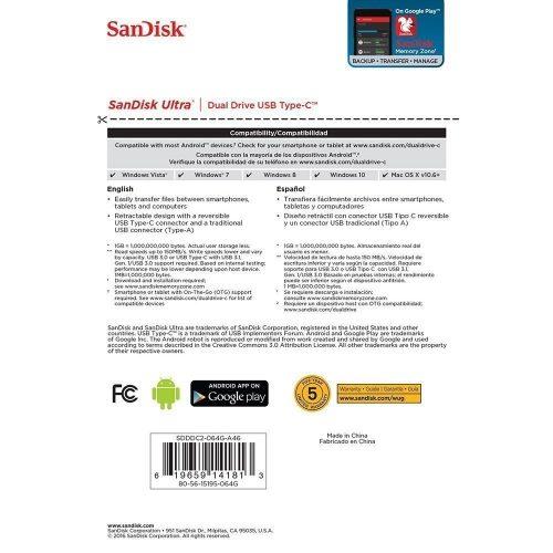 SanDisk Ultra Dual Drive USB Type C 10 500x500