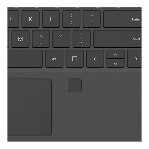 Surface Pro 4 Type Cover with fingerprint reader Black 2 500x500